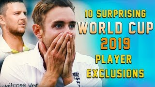 10 Surprising World Cup 2019 player exclusions