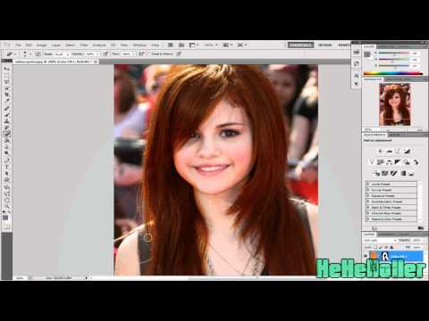 Photoshop CS5 // How to change hair color