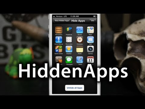 Hide Stock iOS Apps With HiddenApps - Update: Removed From App Store