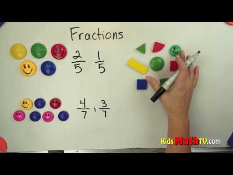 Teaching fractions with shapes for easy understanding video