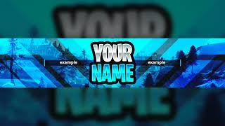 New Free Fortnite Gfx Youtube Banner Template 2018 Fortnite