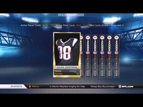 Madden NFL 13: Ultimate Team - Choosing Captain and Opening Packs - Episode 1