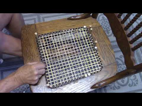 Caning a Chair Seat, how to Weave cane