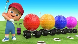 Download Golf Balls 3D for Kids Children Toddlers Games | Little Baby Fun Play Golf Game Learning Colors Video