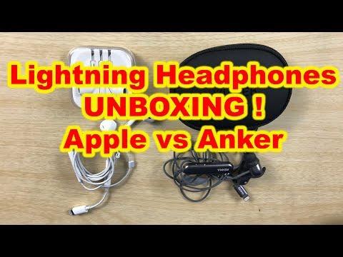 Anker SoundBuds Unboxing IE10 In-Ear Lightning Headphones iPhone X, 8, 8plus, 7