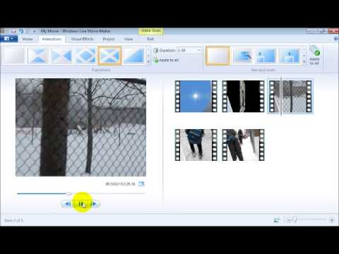 Module #6 - Building and Publishing a Video Using Windows Live Movie Maker