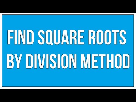 Find Square Roots By Division Method / Square Roots - Maths Arithmetic