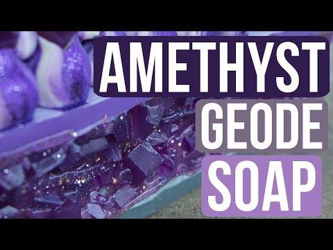 Amethyst Geode Soap | Royalty Soaps