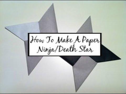How To Make A Paper Ninja/Death Star - Shuriken | HD