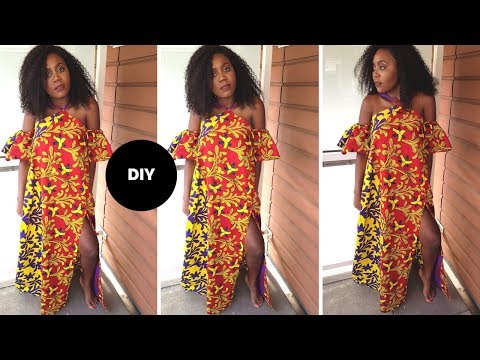 How To Make A Cold Shoulder Maxi Dress I Beginner Sewing I Easy Sewing