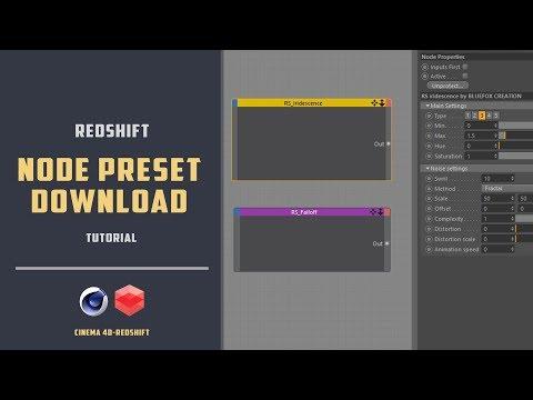 Redshift-c4d Node preset download[CINEMA 4D TUTORIAL