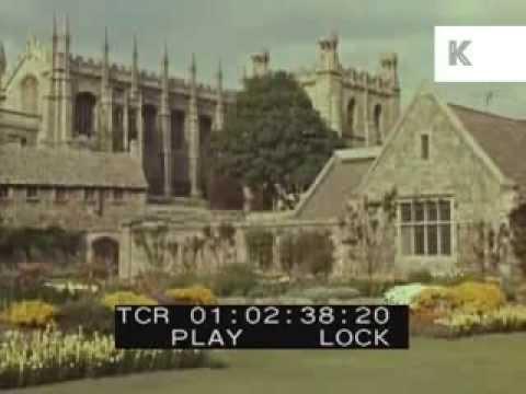 Drive Through Oxford, UK, 1950s/60s, University, Oxbridge
