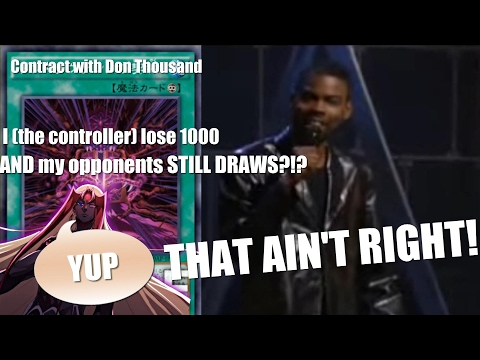 Contract with Don Thousand: I lose 1000 and my opponent STILL DRAWS?!? THAT AIN'T RIGHT!