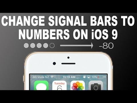 iOS 9 Glitch - Change Signal Bars to Numbers