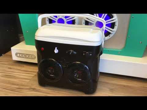 30qt Bluetooth Ice Chest Radio 200 Watt Amp 2-150 Watt Speakers Phone/Mp3 Only