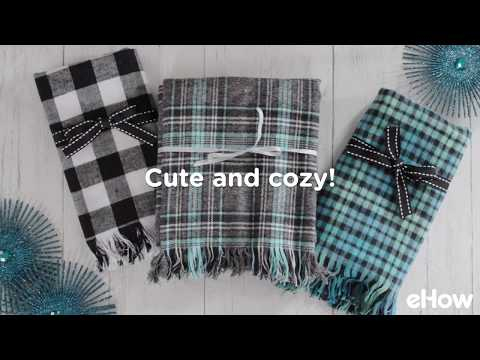 Easy to Make Plaid Flannel and Fringe Scarf Tutorial
