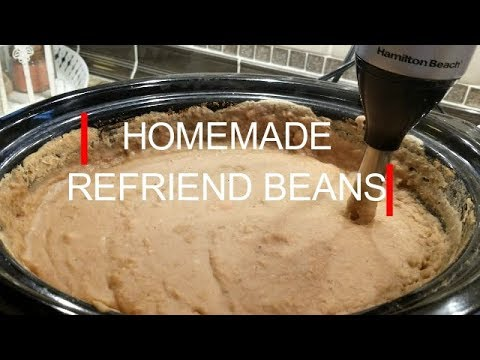 HOMEMADE REFRIED BEANS IN THE SLOWCOOKER