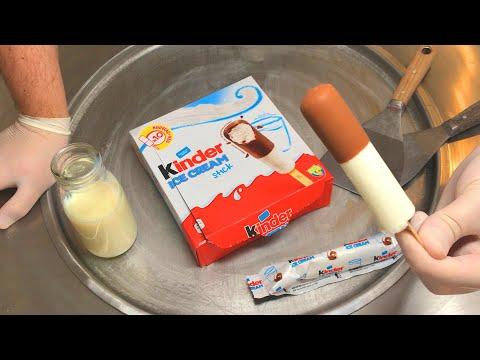 kinder Ice Cream Stick - Ice Cream Rolls | how to make kinder chocolate ice cream to Ice Cream Rolls