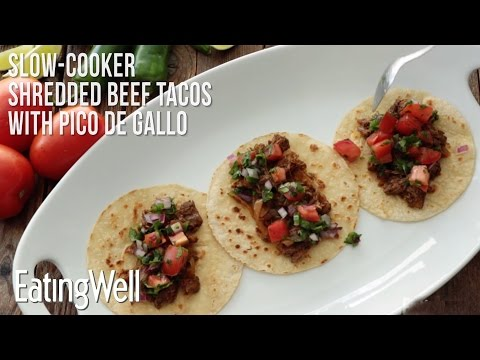 How to Make Slow-Cooker Shredded Beef Tacos with Pico de Gallo