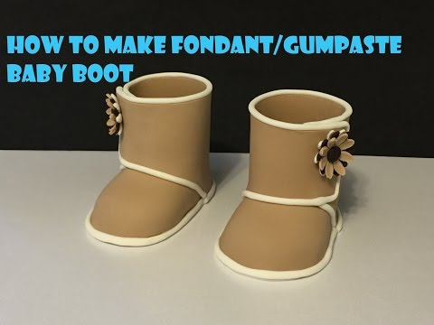 How to make fondant gumpaste baby boot
