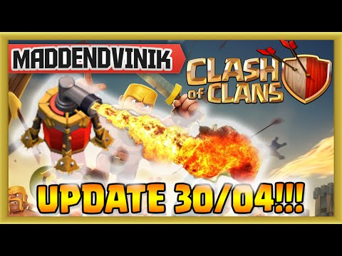 Clash of Clans - UPDATE 30/04 - Air Sweeper, Clan Bookmarks and More!!! (Gameplay Commentary)