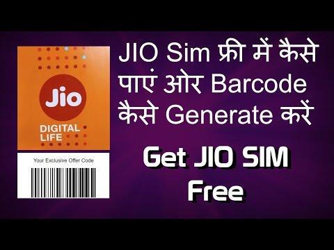 Get Jio Sim Free - Generate Jio Barcode on Any Phone - New Working Method