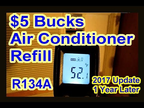 $5 Bucks House Window Air Conditioner Refill - Recharge - R134A - DIY AC Long Version Update