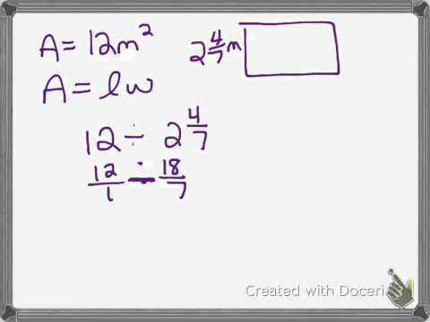 #6 fraction worksheet area of a rectangle