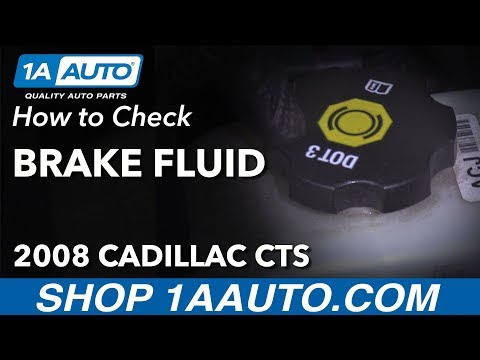 How to Check and Fill Brake Fluid 2008 Cadillac CTS