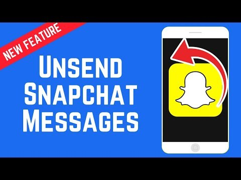 How to Unsend and Delete Snapchat Messages - New Feature June 2018
