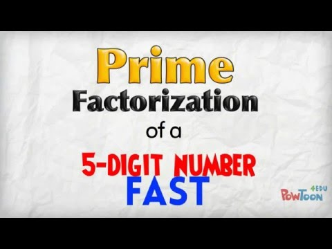 FAST Prime Factorization (5-digit number)