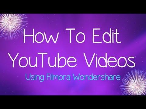 How To Edit YouTube Videos | Filmora Wondershare | Kellster