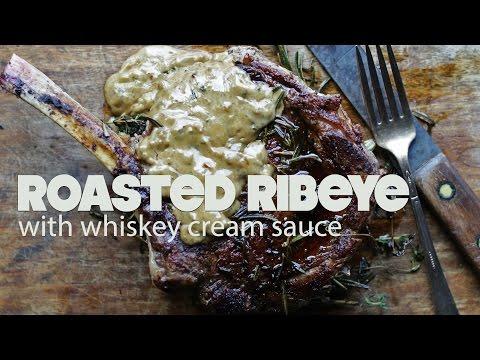 Bone In Ribeye Steak Recipe with Whisky Cream Sauce