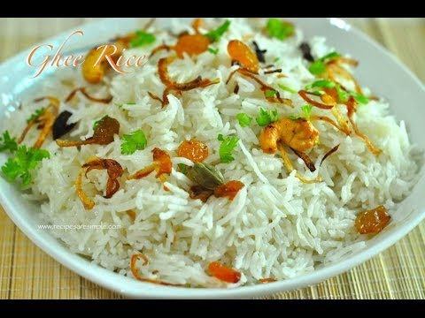 Perfect Ghee Rice Made in Rice Cooker |  RecipesAreSimple