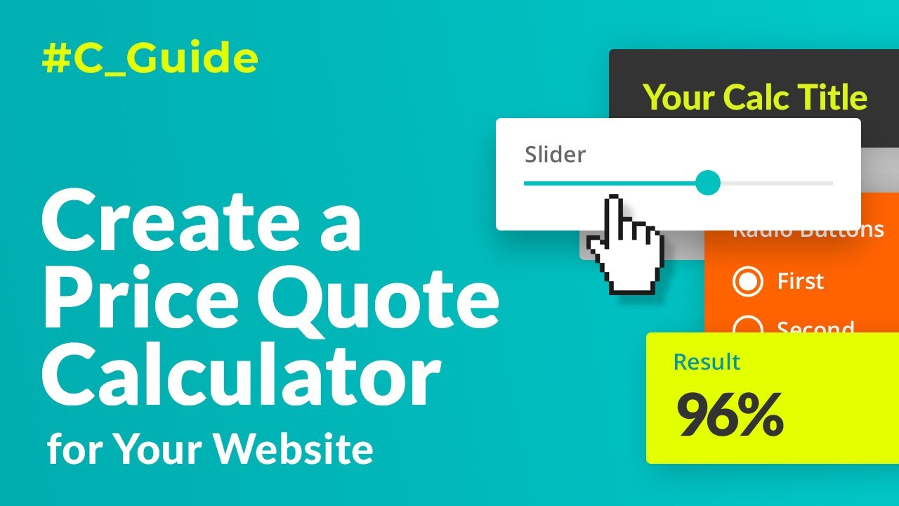 Create a Price Quote Calculator for Website. Step-By-Step Guide [2019]
