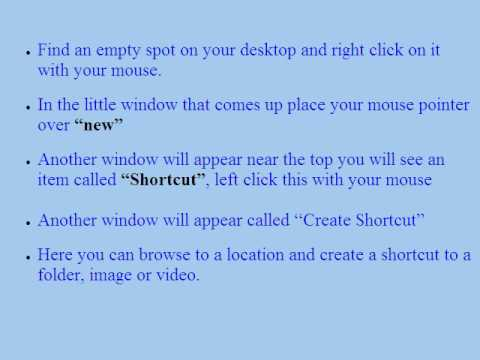 Windows XP Shortcuts and how to Create them