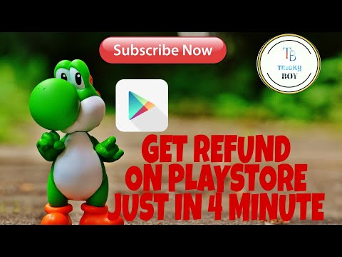 How to get refund on google play app just in 4 minute!