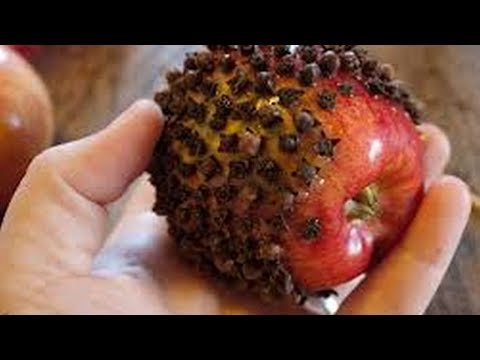 Put cloves in an apple, and see what happens