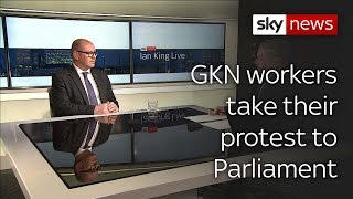 GKN workers take their fight to Parliament