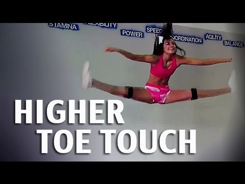 How to get a Higher Toe Touch For Cheerleading   Kinetic Bands