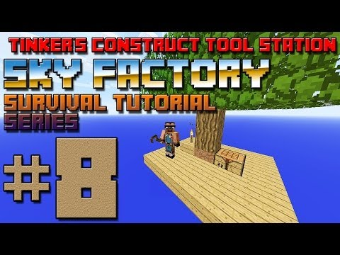 Sky Factory Survival Tutorial #8 - Tinker's Construct Stone Tools