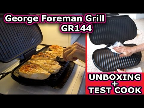 George Foreman Grill GR144 UNBOXING and Test Cook Bulk Food Storage GR2144P