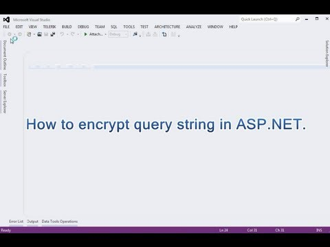 How to encrypt query string in ASP.NET.