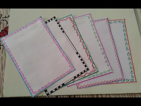 Easy page border design  page border for school and college project  easy page border tutorial 5
