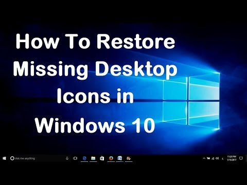 How To Restore Missing Desktop Icons in Windows 10 - Simple Fix..!!