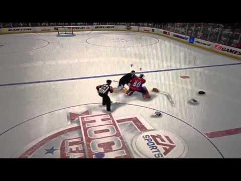 NHL 14: Flawless Goalie vs Goalie Fight!