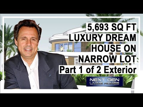 Luxury Dream House Extrior on Narrow Lot 1 of 2