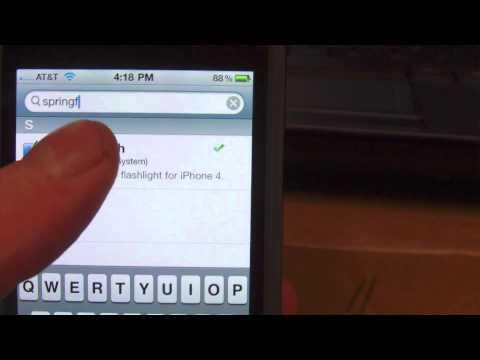 iPhone 4 Tweak NEW!! Springflash!!