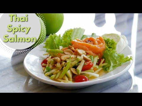 Thai Food - Spicy Salmon Salad Recipe