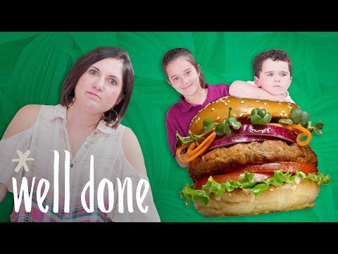 Meatless Burger: How To Cook Up a Fully Vegan Burger | Mom Vs | Well Done